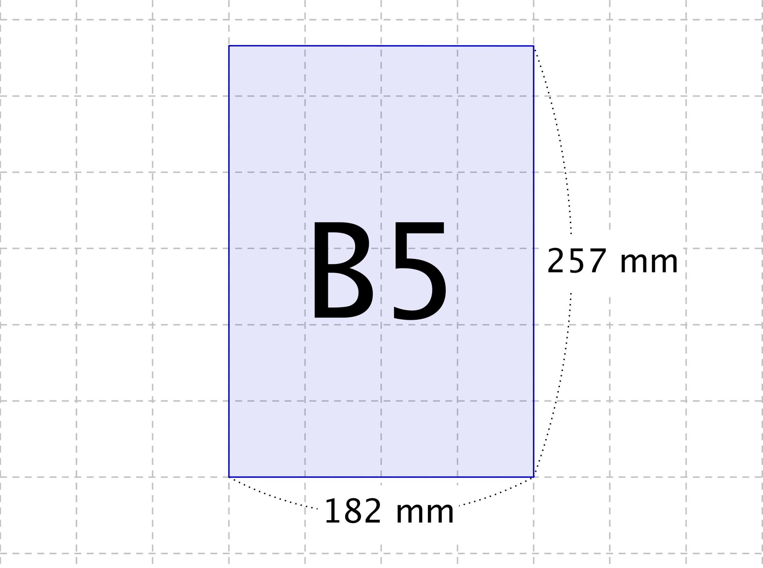 B5サイズの大きさ - 用紙のサイ...
